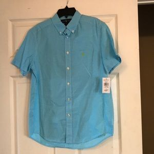 Boys button down polo shirts